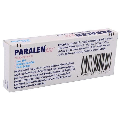 PARALEN 125 perorální neobalené tablety 20X125MG