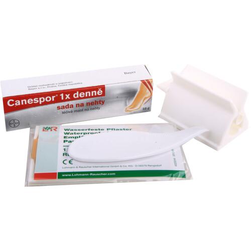 CANESPOR 1X DENNĚ SADA NA NEHTY kožní podání mast na nehty 10GM+SADA