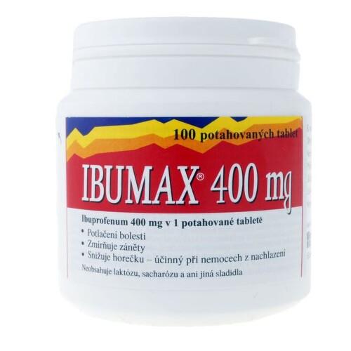 IBUMAX 400MG potahované tablety 100