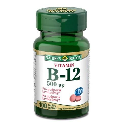 Natures Bounty Vitamin B12 tbl.100x500mcg