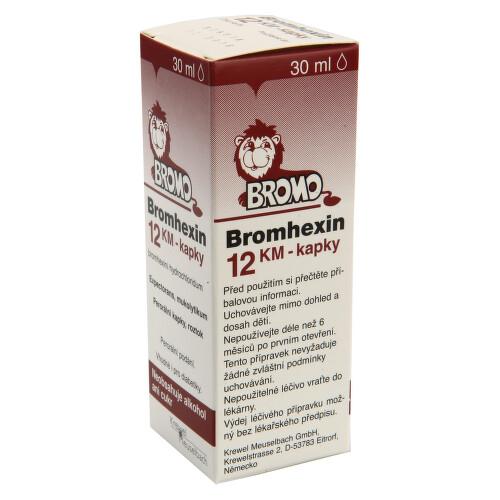 BROMHEXIN 12 KM-KAPKY perorální kapky, roztok 30ML