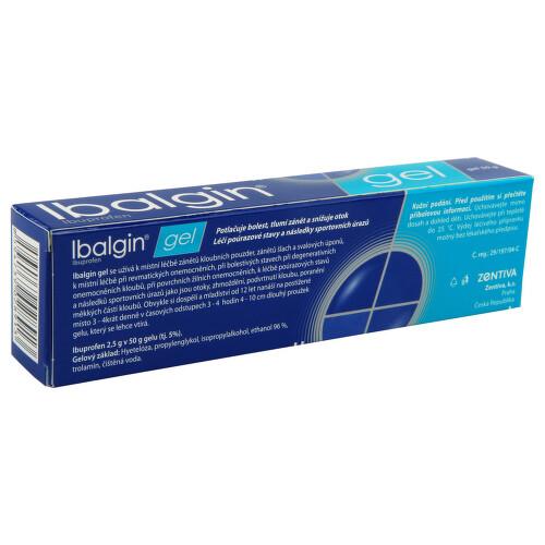 IBALGIN GEL kožní podání gely 1X50GM