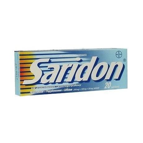 SARIDON 250MG+150MG+50MG neobalené tablety 20