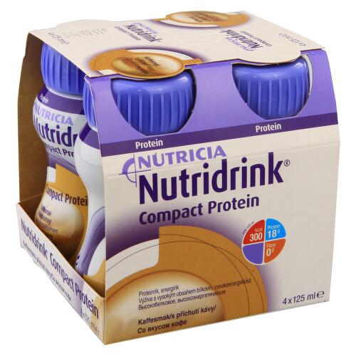 NUTRIDRINK COMPACT PROTEIN S PŘÍCHUTÍ KÁVY perorální roztok 4X125ML