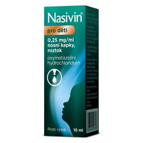 NASIVIN 0,025% 0,25MG/ML nosní podání GTT SOL 10ML