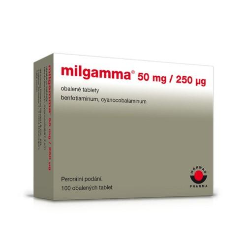 MILGAMMA 50MG/250MCG obalené tablety 100