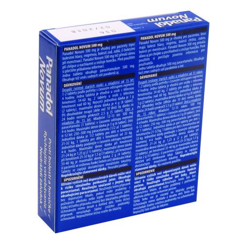 PANADOL NOVUM 500 MG perorální potahované tablety 24X500MG