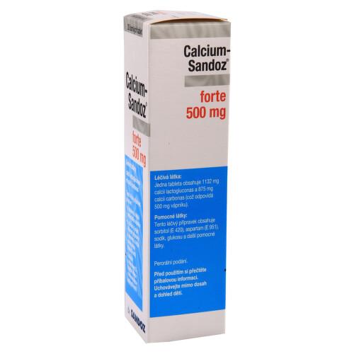 CALCIUM-SANDOZ FORTE 500 MG perorální šumivá tableta 20X500MG