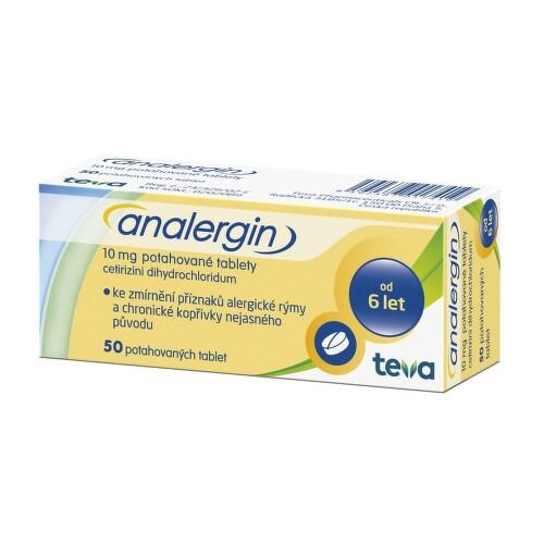ANALERGIN perorální potahované tablety 50X10MG