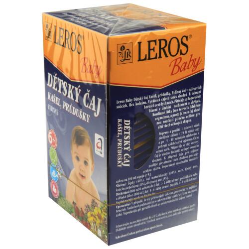 LEROS BABY Dětský čaj Kašel+průdušky n.s.20x1.5g