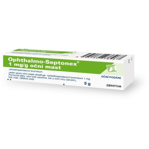 OPHTHALMO-SEPTONEX oční podání UNG 1X5GM/5MG