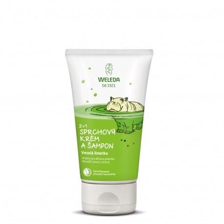 WELEDA 2v1 sprchový krém a šampon Veselá limetka