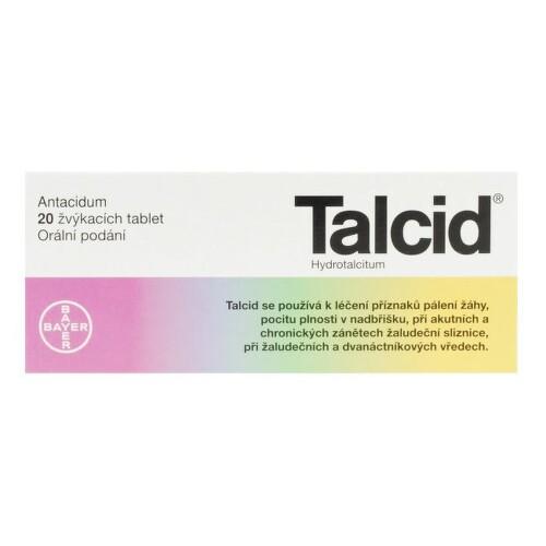 TALCID 500MG žvýkací tableta 20