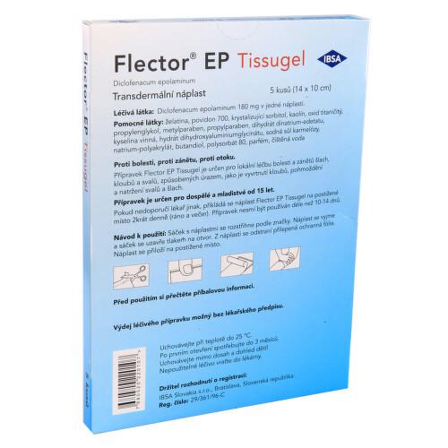 FLECTOR EP TISSUGEL kožní podání transdermální náplasti 5KS