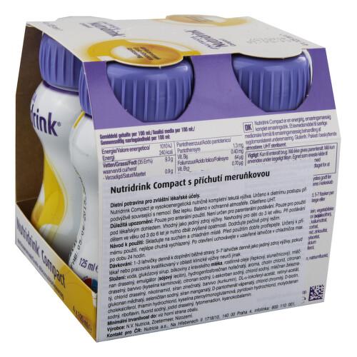 NUTRIDRINK COMPACT S PŘÍCHUTÍ MERUŇKOVOU perorální roztok 4X125ML