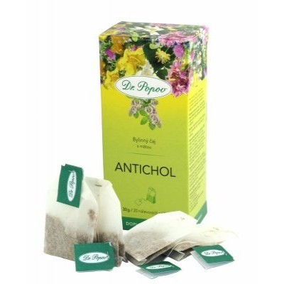 Čaj Antichol porcovaný 30g Dr.Popov