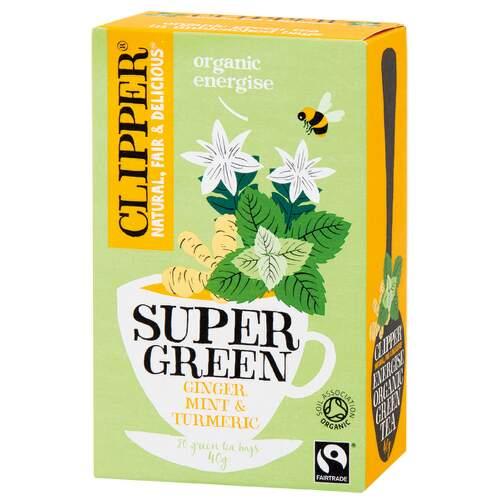 Clipper BIO Zelený čaj Zázvor Máta Kurkuma 20x2g