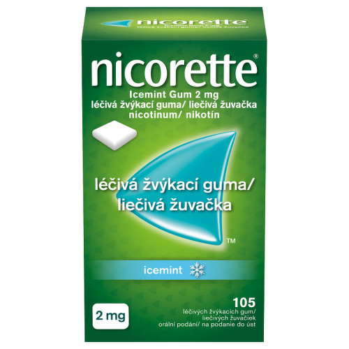 NICORETTE ICEMINT GUM 2 MG orální podání léčivé žvýkací gumy 105X2MG
