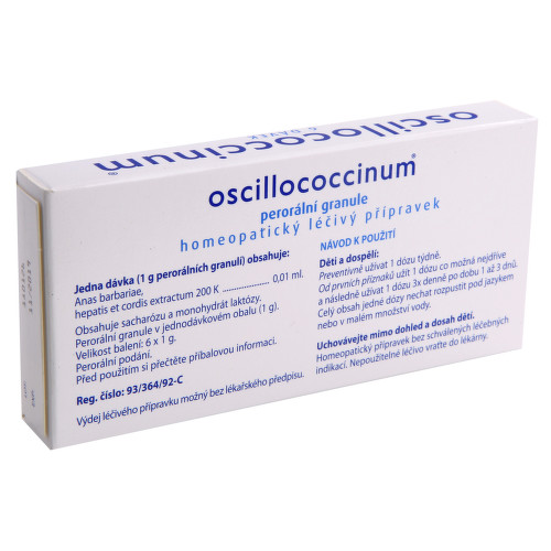 OSCILLOCOCCINUM perorální granule 6X1GM