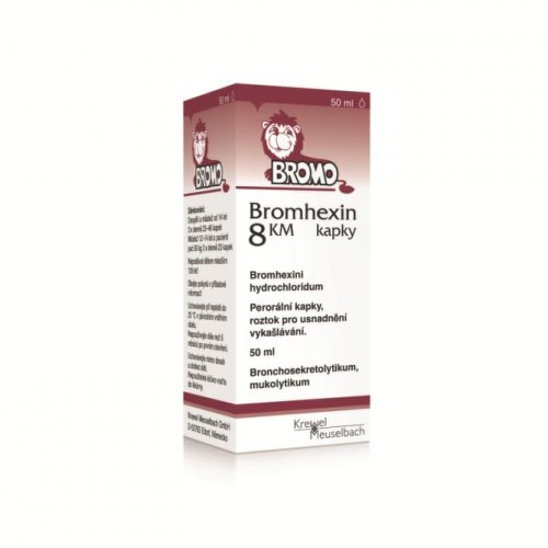 BROMHEXIN 8 KM KAPKY 8MG/ML perorální GTT SOL 1X20ML