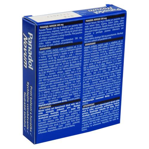PANADOL NOVUM 500 MG perorální potahované tablety 12X500MG