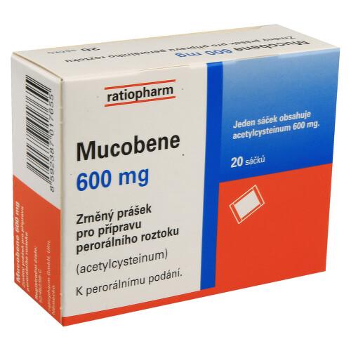 MUCOBENE 600 MG perorální GRA SOL SCC20X3GM/600MG-SA