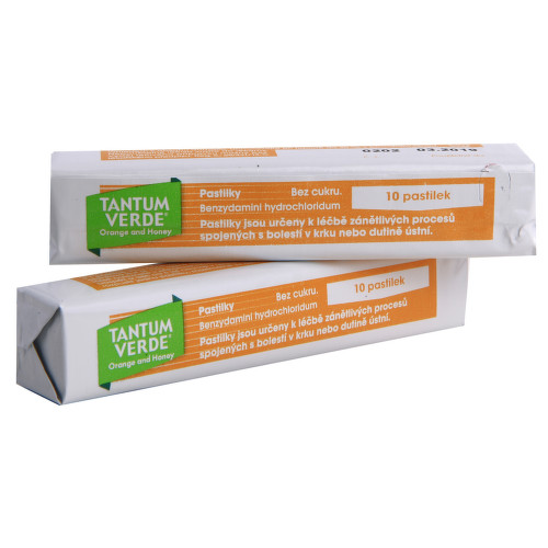 TANTUM VERDE ORANGE AND HONEY orální podání pastilka 20X3MG