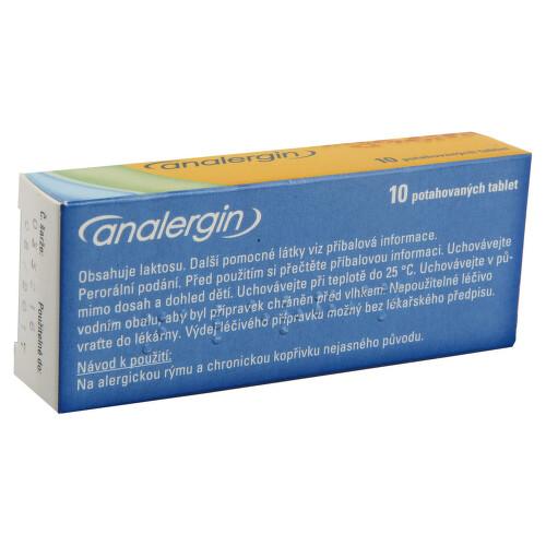ANALERGIN perorální potahované tablety 10X10MG