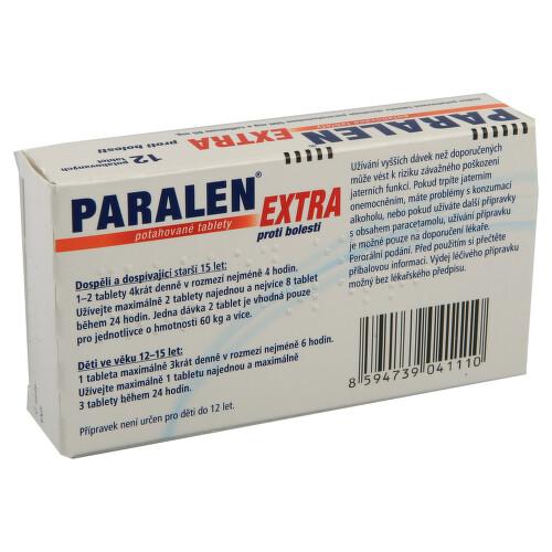 PARALEN EXTRA PROTI BOLESTI perorální potahované tablety 12