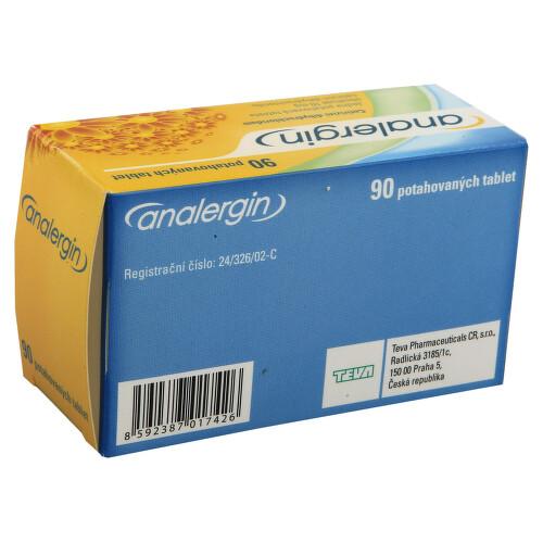 ANALERGIN perorální potahované tablety 90X10MG