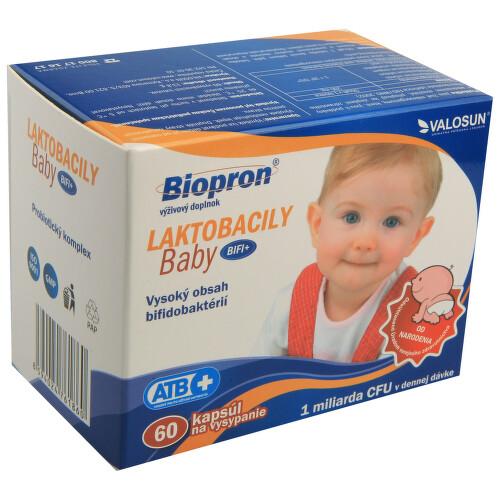 Biopron LAKTOBACILY Baby BiFi+ tob.60