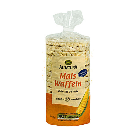 Alnatura Kukuřičné vafle se solí 110g