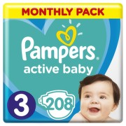 Pampers Active Baby Pleny 3 Midi 6-10kg 208 ks