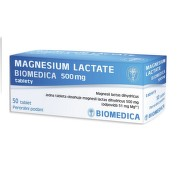 MAGNESIUM LACTATE BIOMEDICA 500MG neobalené tablety 50