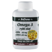 MedPharma Omega 3 rybí olej Forte tob.67