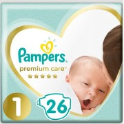 Pampers Premium Care Pack S1 Newborn 26ks