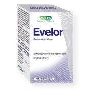 Evelor resveratrol 50 mg tob.90