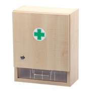 Lékárnička - nástěnná dřevěná 40x32x17 -prázdná - II. jakost