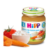 HiPP BABY BIO Zelenina a rýže s kuřecím masem 125g C-66
