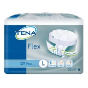 TENA Flex Plus Large - Inkontinenční kalhotky s páskem na suchý zip (30ks)