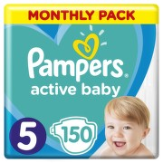 Pampers Active Baby Pleny 5 Junior 11-16kg Monthly Pack 150 ks