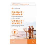 LIVSANE Omega3 rybí olej + Vitamin E kapsle 60 ks