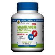 Magnesium citrát Forte 150mg+vit.B6 6mg tbl.30+30