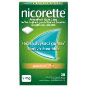 NICORETTE FRESHFRUIT GUM 2MG léčivé žvýkací gumy 30