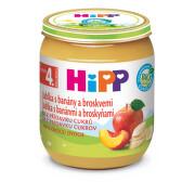 HiPP OVOCE BIO Jablka s banány a broskvemi 125g - balení 6 ks