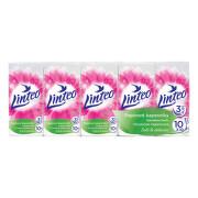 Papírové kapesníky LINTEO 3-vrstvé bílé 10x10 ks