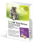 Drontal Dog Flavour 150/144/50mg psy tbl.2