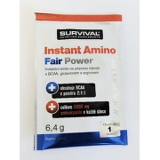 Instant Amino Fair Power 6,4 g jahodové mojito, Survival