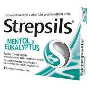 STREPSILS MENTOL A EUKALYPTUS 0,6MG/1,2MG pastilka 24