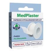MedPlaster Náplast papírová cívková 5mx1.25cm